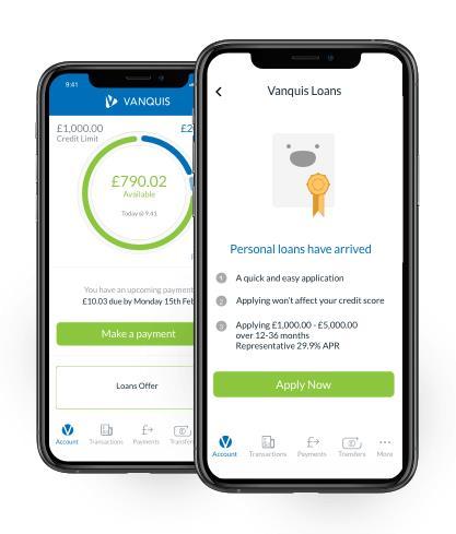 Loans offer on mobile app